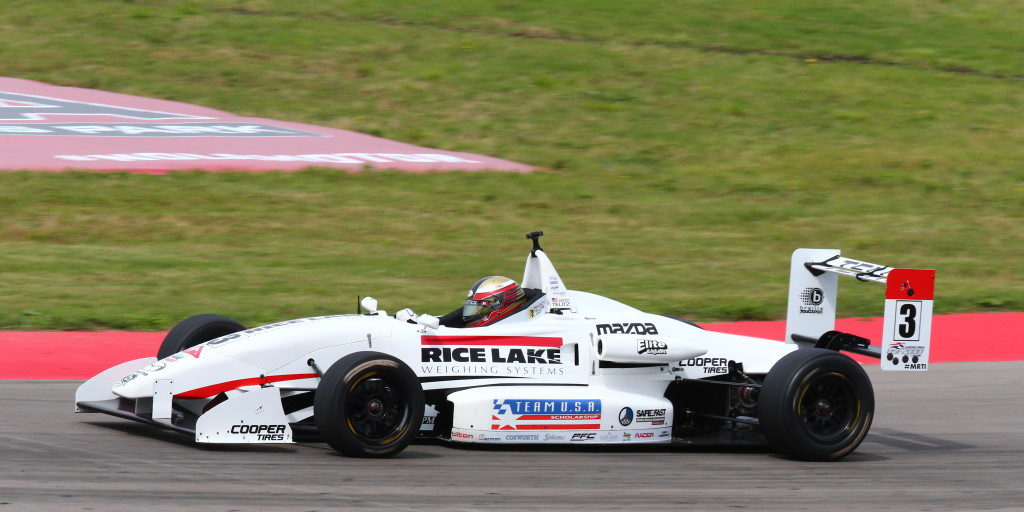 The Rice Lake Weighing Systems sponsored No. 3 of Aaron Telitz is back in action at Barber Motorsports Park, April 24-26, 2015.