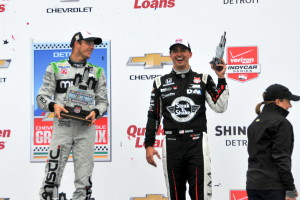 The Detroit Race #2 Podium of Bourdais, Sato and Rahal