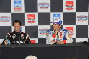 Sato and Helio talk about the bumps in Detroit