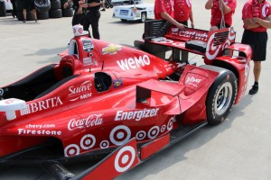 The extra wingle on top the sidepod of Scott Dixon's car.