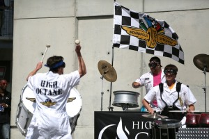 The High Octane crew putting on a powerful performance on the plaza.