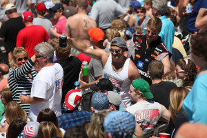 The party atmosphere is in full drive at Indianapolis Motor Speedway.