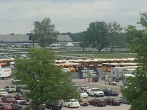 Many kids at the Indianapolis Motor Speedway today.  (Photo - Steve Wittich)
