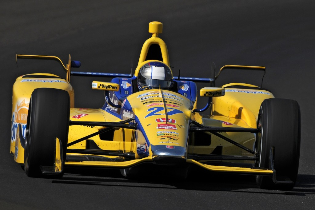 Marco Andretti again led the way for Honda and Andretti Autosport in practice at the Indianapolis Motor Speedway