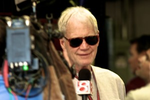 David Letterman is interviewed on race morning at Indianapolis.