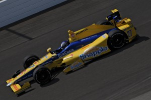 Marco Andretti again led the way for Honda in practice Monday at the Indianapolis Motor Speedway