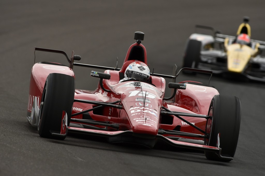 Graham Rahal again led the Honda field Sunday, finishing fifth in the 99th running of the Indianapolis 500
