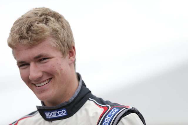 John Cummiskey Racing's Anthony Martin is always smiling.  Maybe it's because the Australian holds a commanding lead in the USF2000 rookie points standings.  (Photo courtesy of Indianapolis Motor Speedway, LLC Photography)