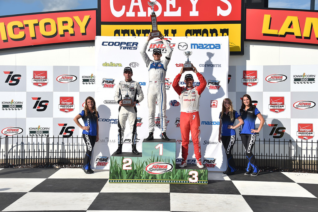 2015 Iowa Indy Lights Podium