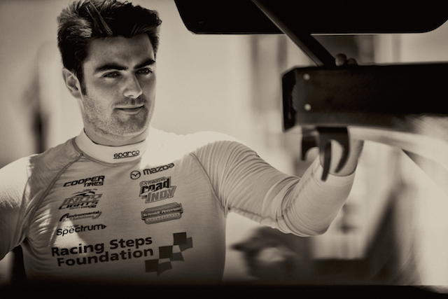Indy Lights championship points leader Jack Harvey will be aiming to repeat his 2014 Mid-Ohio Sports Car Course performance that saw him on the top step of the podium twice.  (Photo courtesy of Indianapolis Motor Speedway, LLC Photography)