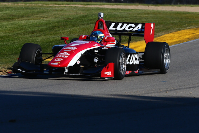 RC Enerson on his way to his first Indy Lights presented by Cooper Tire pole (Photo courtesy of Indianapolis Motor Speedway, LLC Photography)