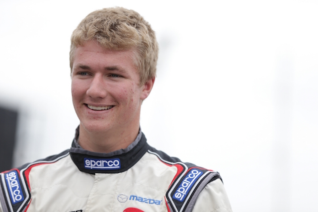 Top Cooper Tires USF2000 powered by Mazda rookie Anthony Martin will be a favorite to win the Mazda Advancement Scholarship in 2016 (Photo courtesy of Indianapolis Motor Speedway, LLC Photography)