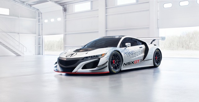 Acura announced today that they would be producing a NSX GT3 racecar  and campaigning it in North America in 2017. (Photo courtesy of Acura)