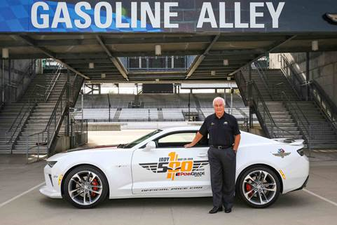 Roger Penske will pace the 100th running of the Indianapolis 500 presented by PennGrade Motor Oil in a 50th Anniversary Camaro (Photo courtesy of Chevrolet)